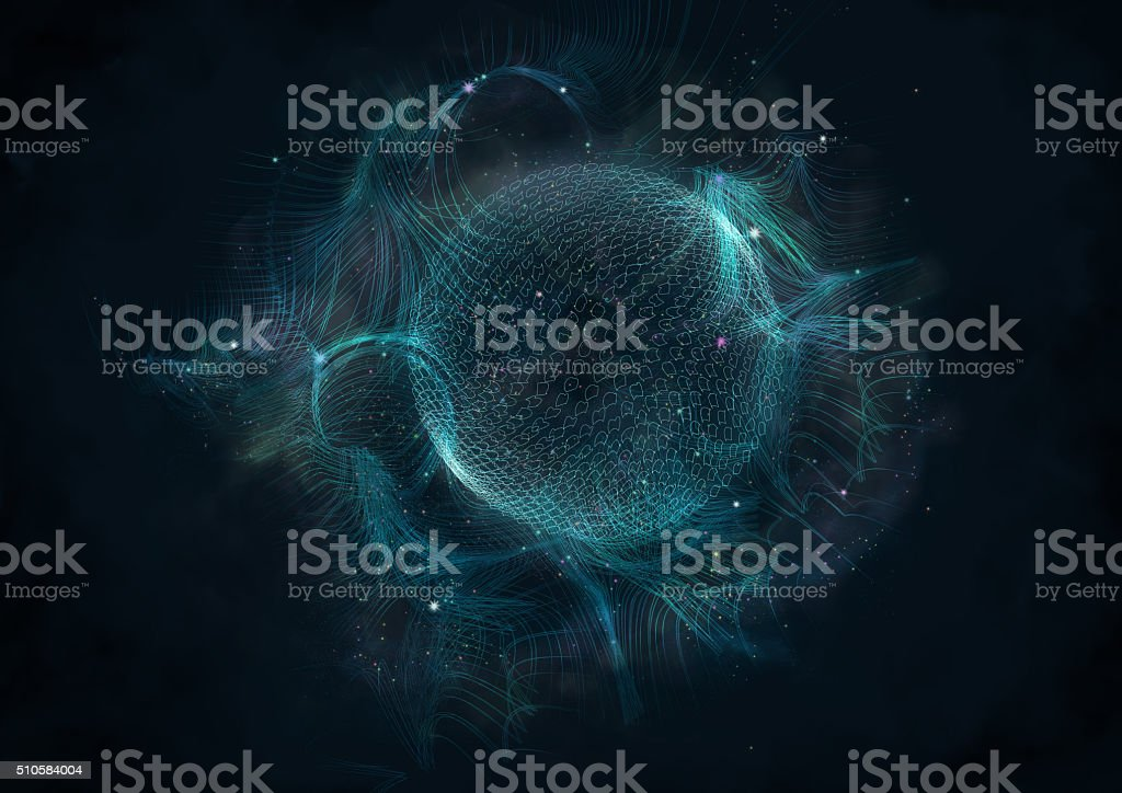Abstract universe map background. stock photo