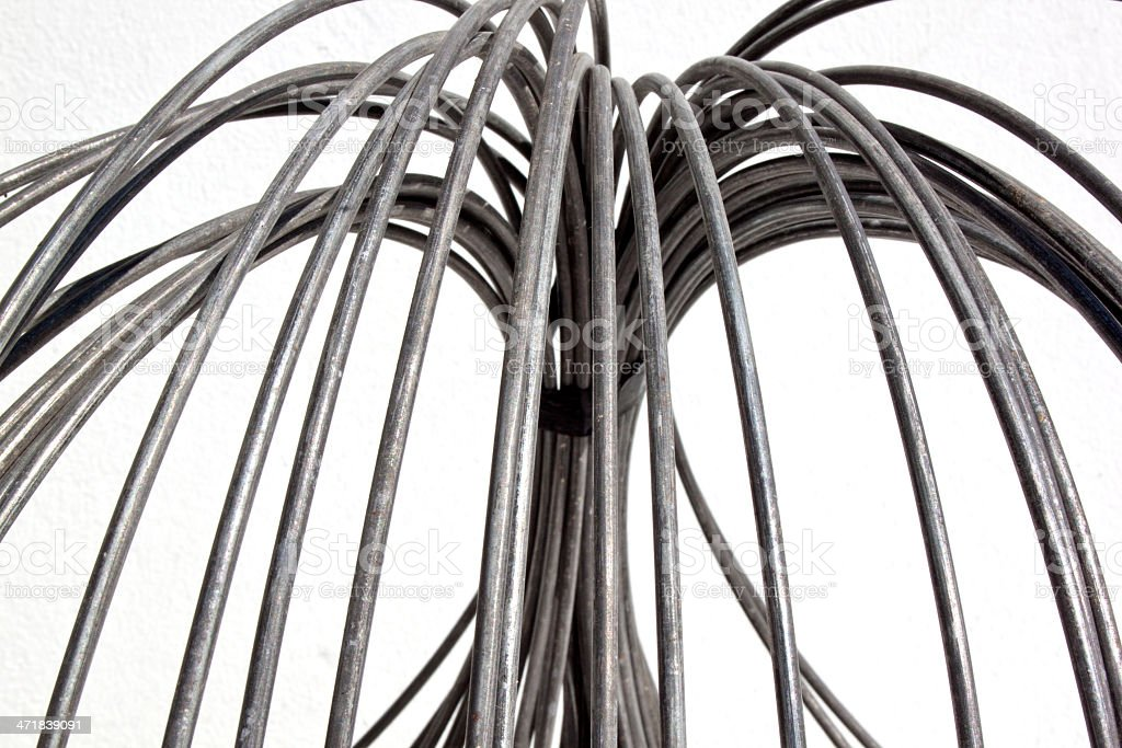 Abstract Unravelled Metal Wire Coil stock photo