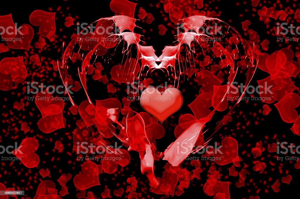 abstract valentine background stock photo