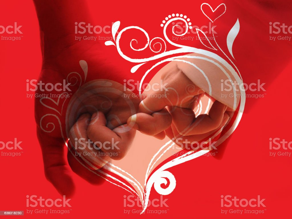 Abstract valentine day background stock photo