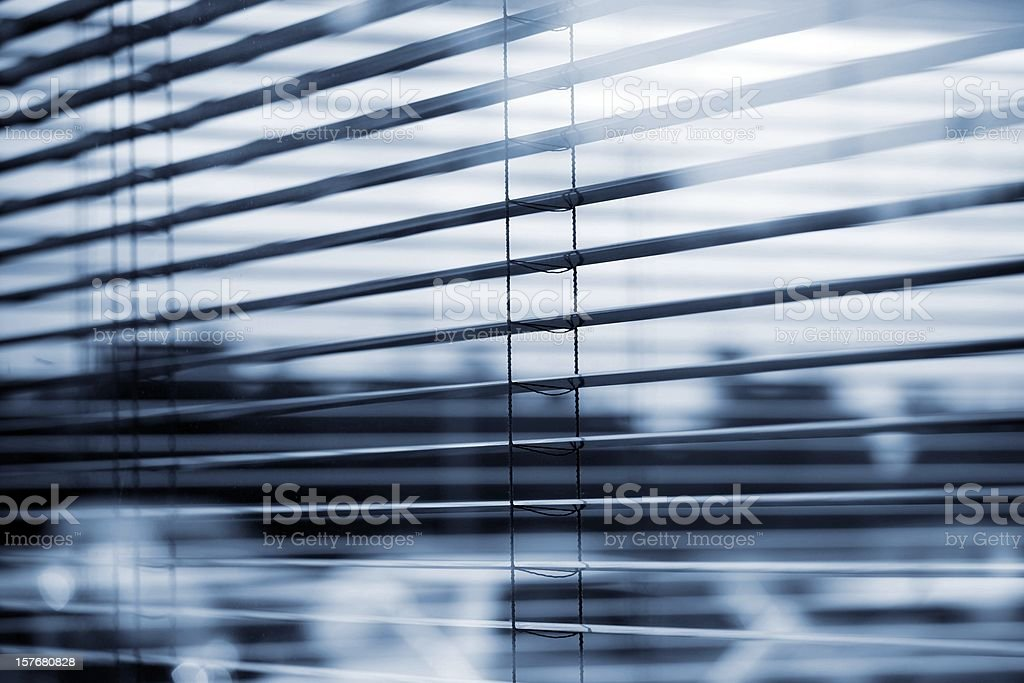 abstract view of a busines windows with (open) Jalousie royalty-free stock photo