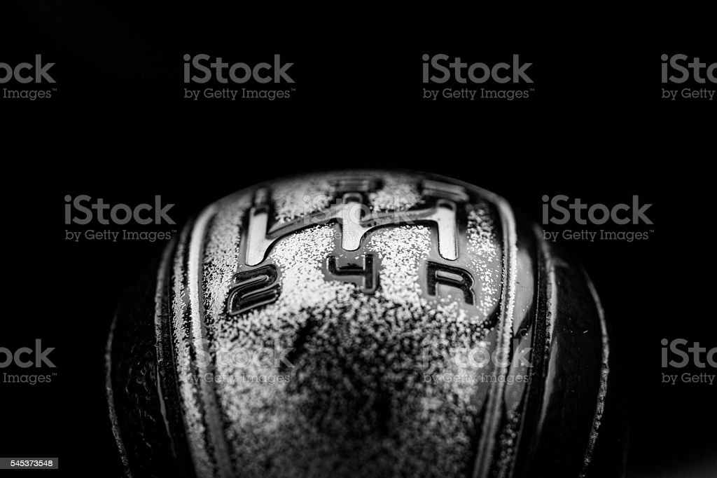 Abstract view of a gear lever stock photo