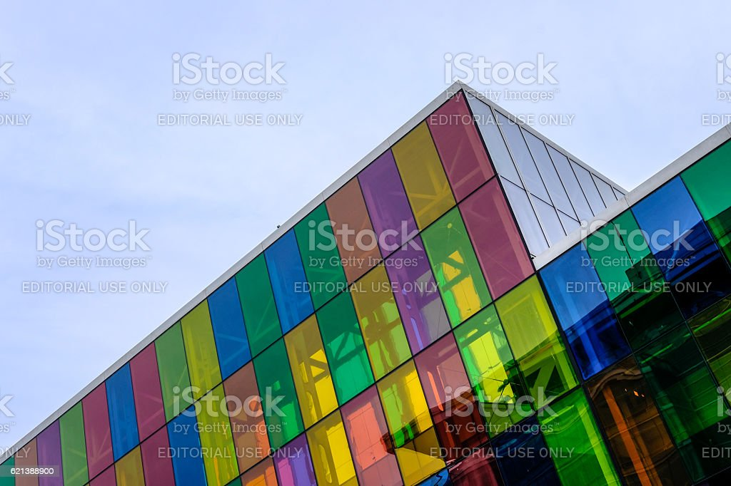 Abstract View Of a Modern Office Block stock photo