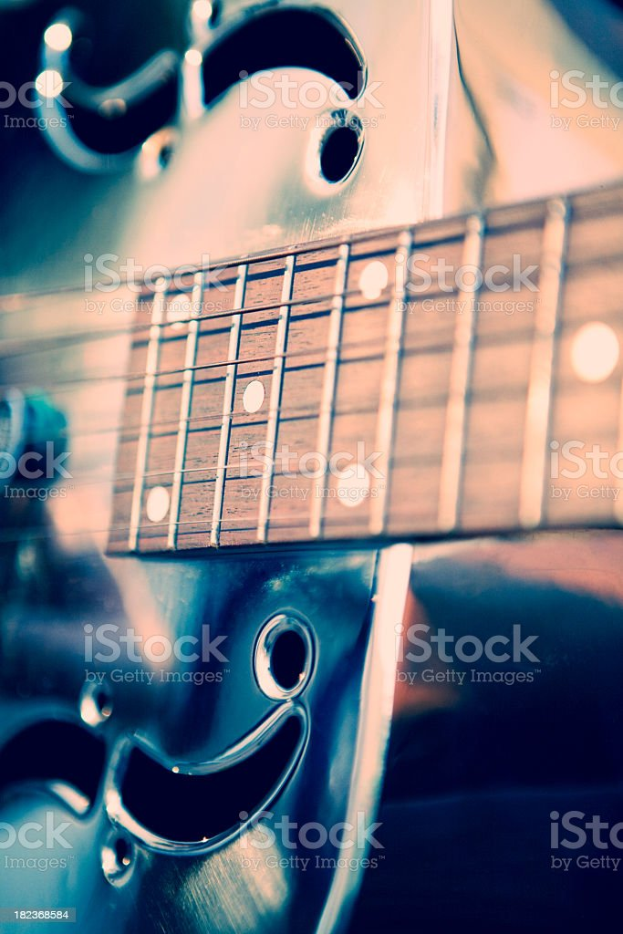 Abstract view of acoustic guitar stock photo