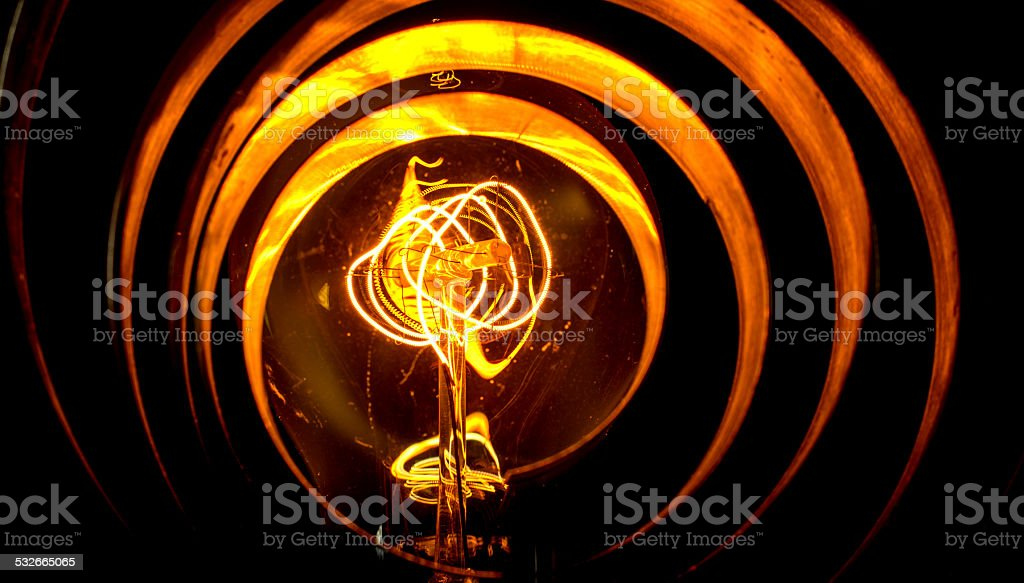 Abstract View of an Old Ligh Bulb stock photo