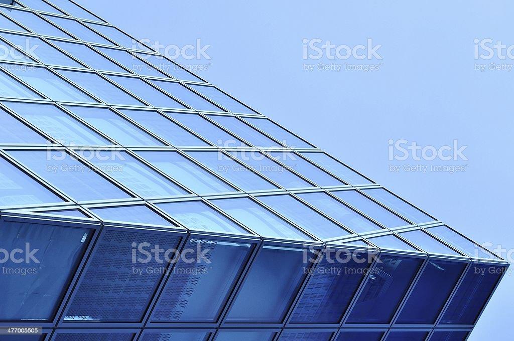 Tło widok nowoczesny Niebieskie szkło centrum biznesowe zbiór zdjęć royalty-free