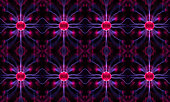 Abstract view of plasma vortexes, crystal structure lattice or networking
