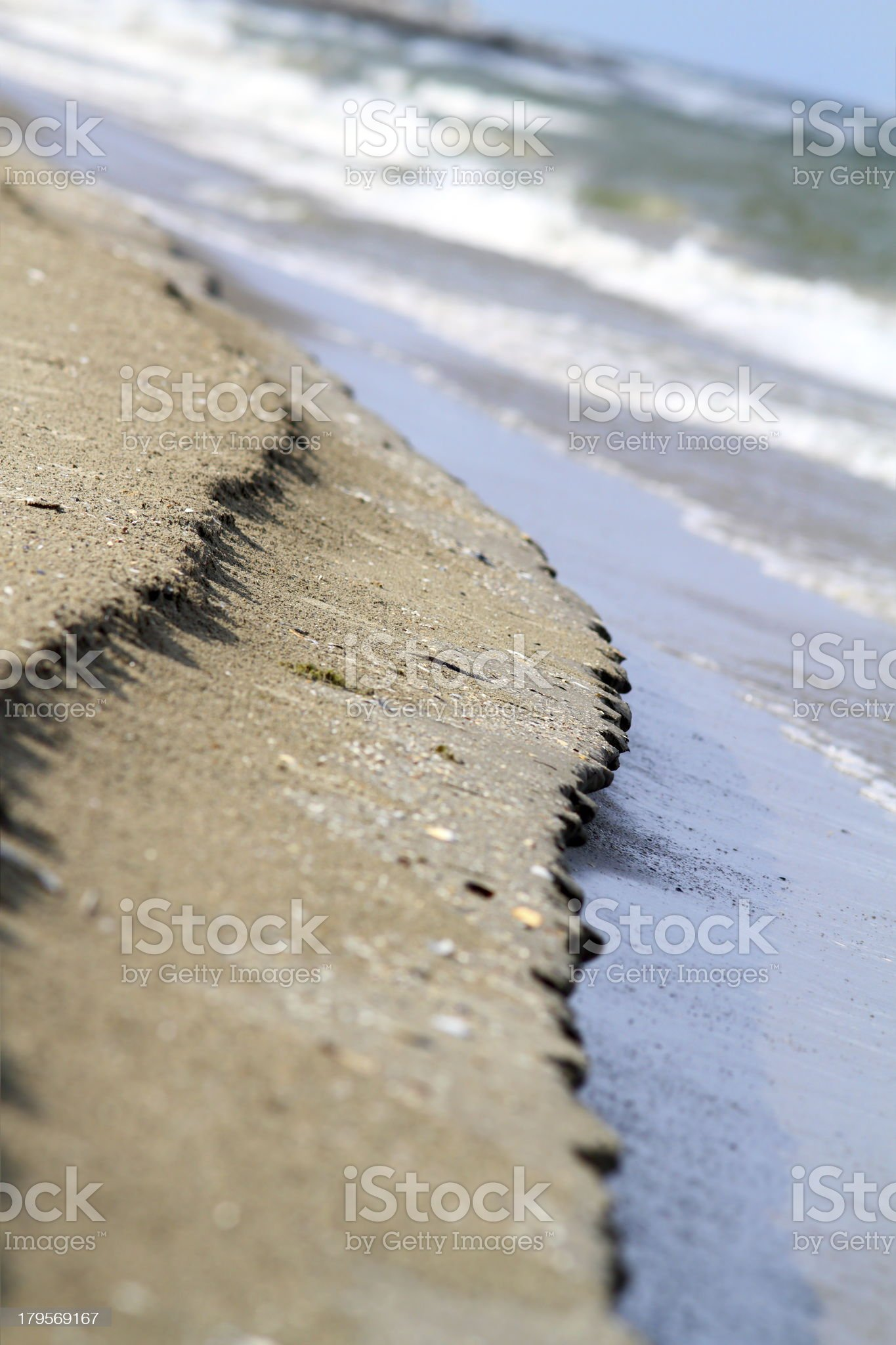 abstract view of sea shore royalty-free stock photo