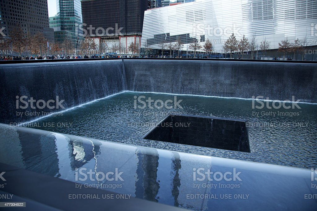 Abstract view of the 9/11 Memorial and Museum stock photo
