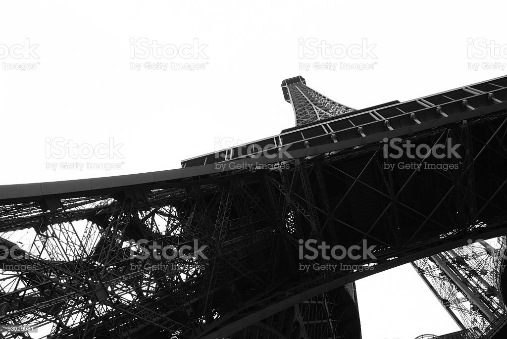 Abstract view of the Eiffal Tower stock photo