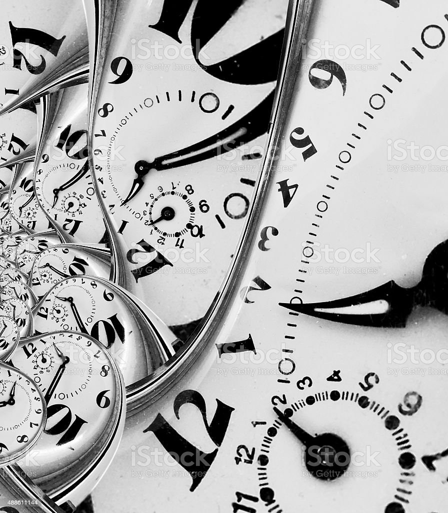 Abstract vintage clock. Digital generated stock photo
