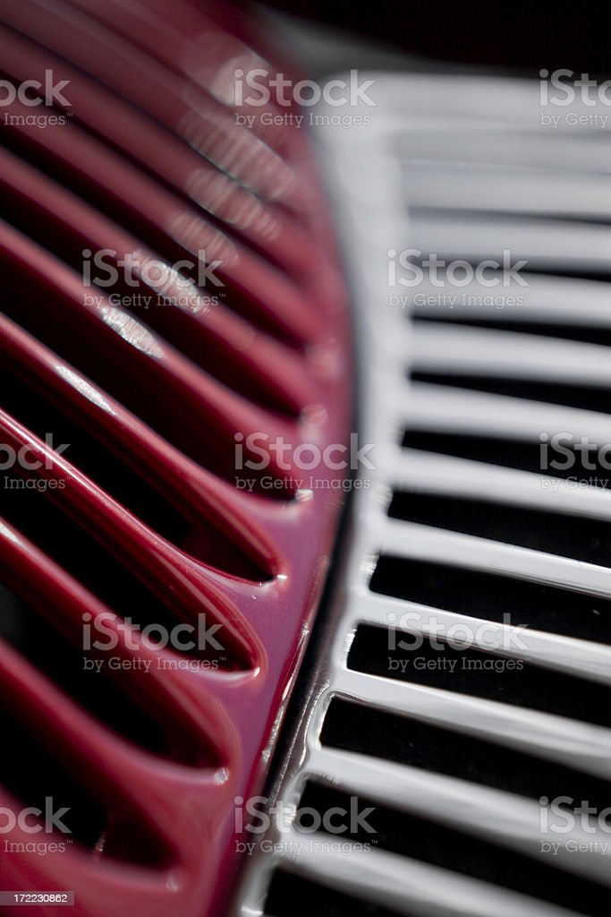 Abstract Vintage Truck Grille stock photo