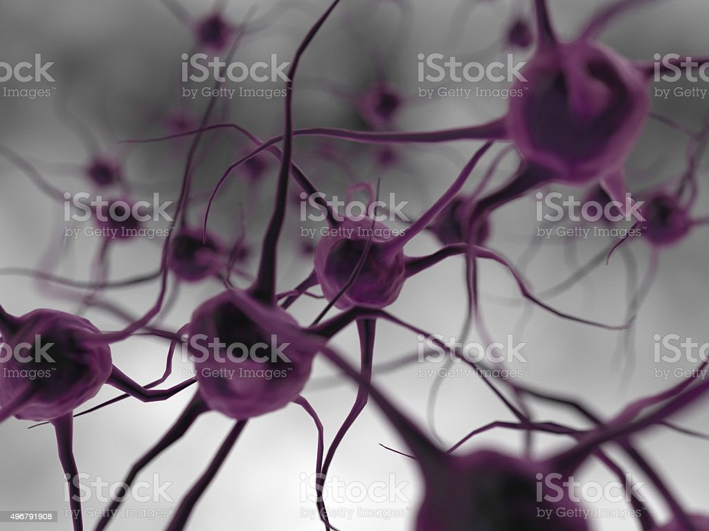 Abstract virus concept stock photo