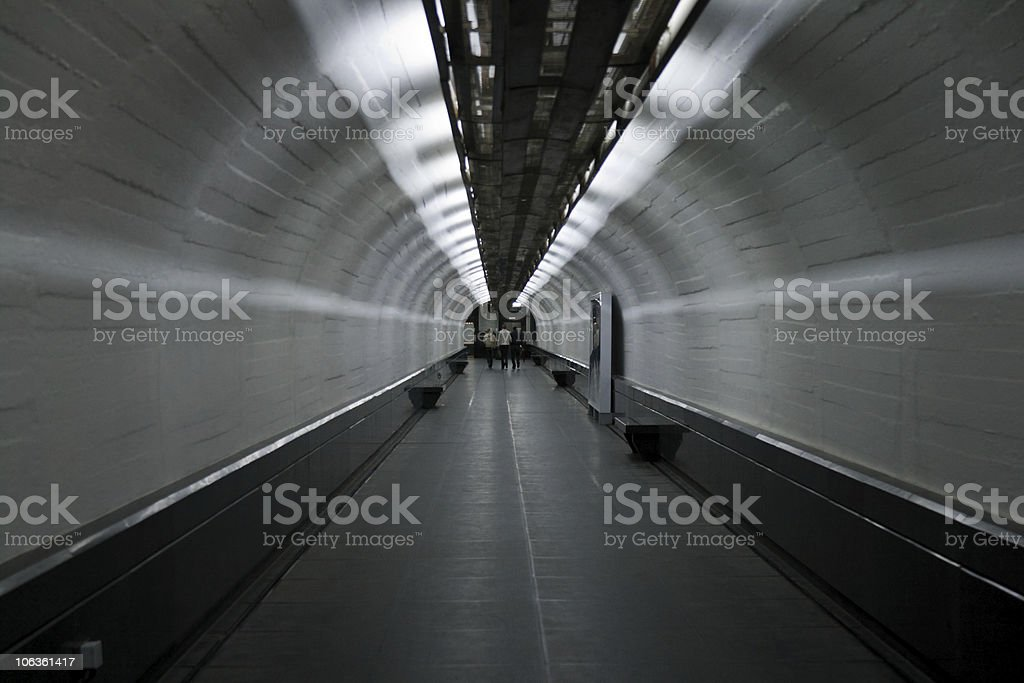 Abstract walking tunnel royalty-free stock photo
