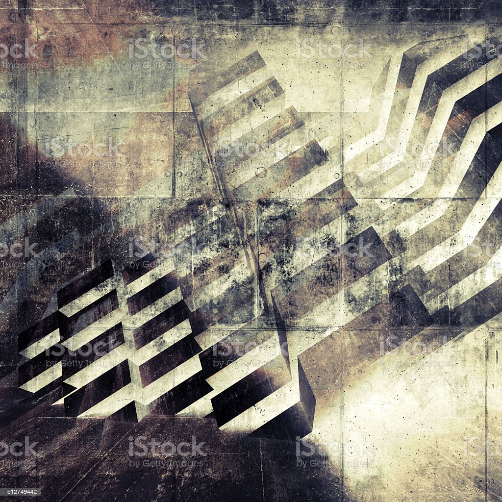 Abstract wall background with geometric pattern stock photo