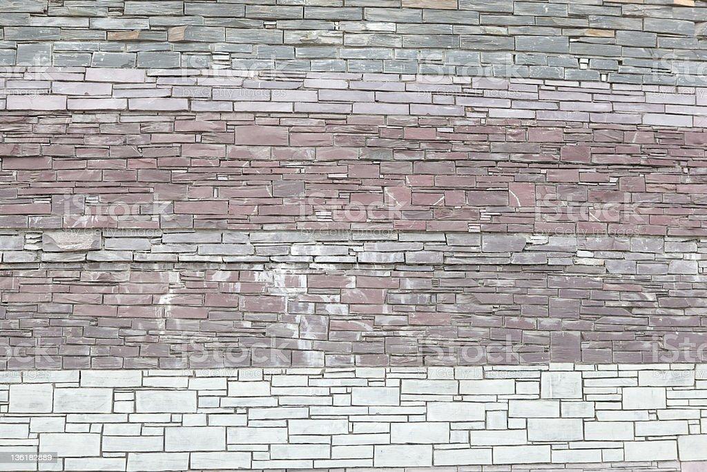抽象的な壁のパステルカラーにレンガの ロイヤリティフリーストックフォト