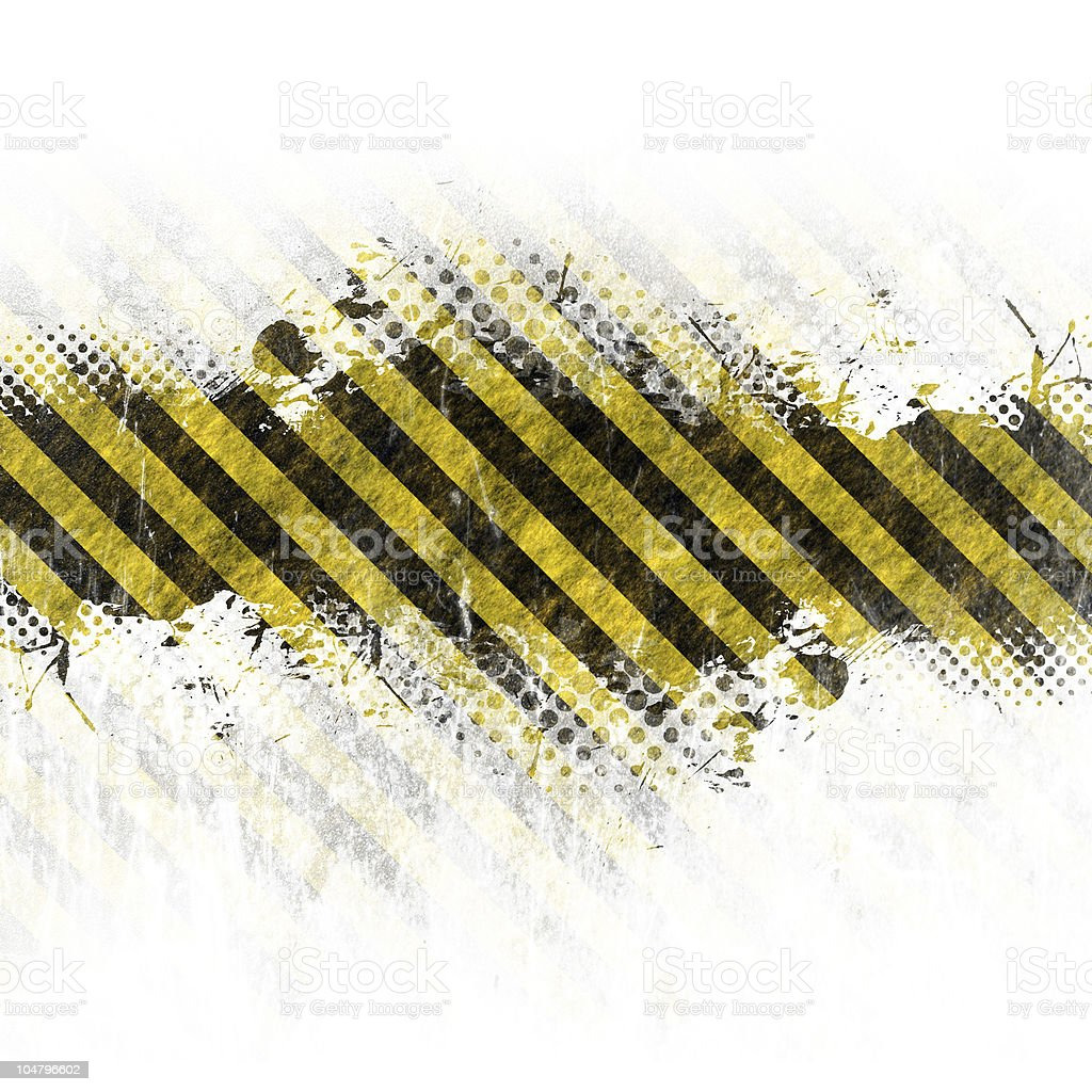 Abstract wallpaper made of hazard warning stripes stock photo