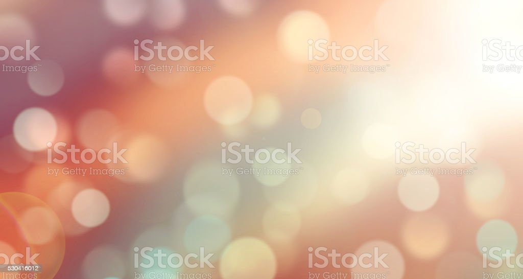 Abstract warm colors bokeh defocused blur background illustration. stock photo