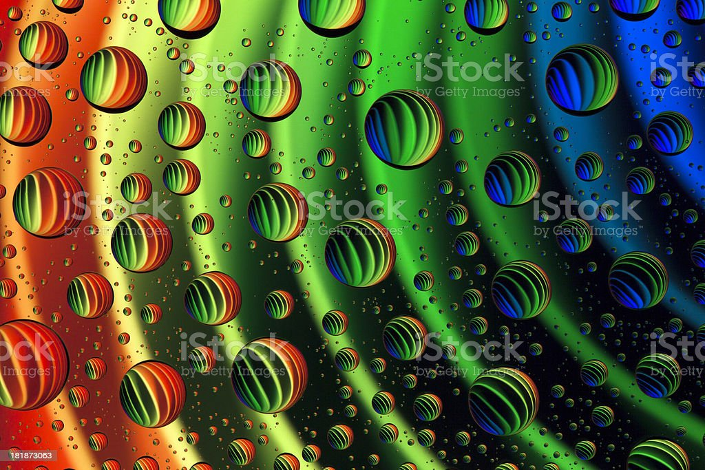 Abstract Water Droplets royalty-free stock photo