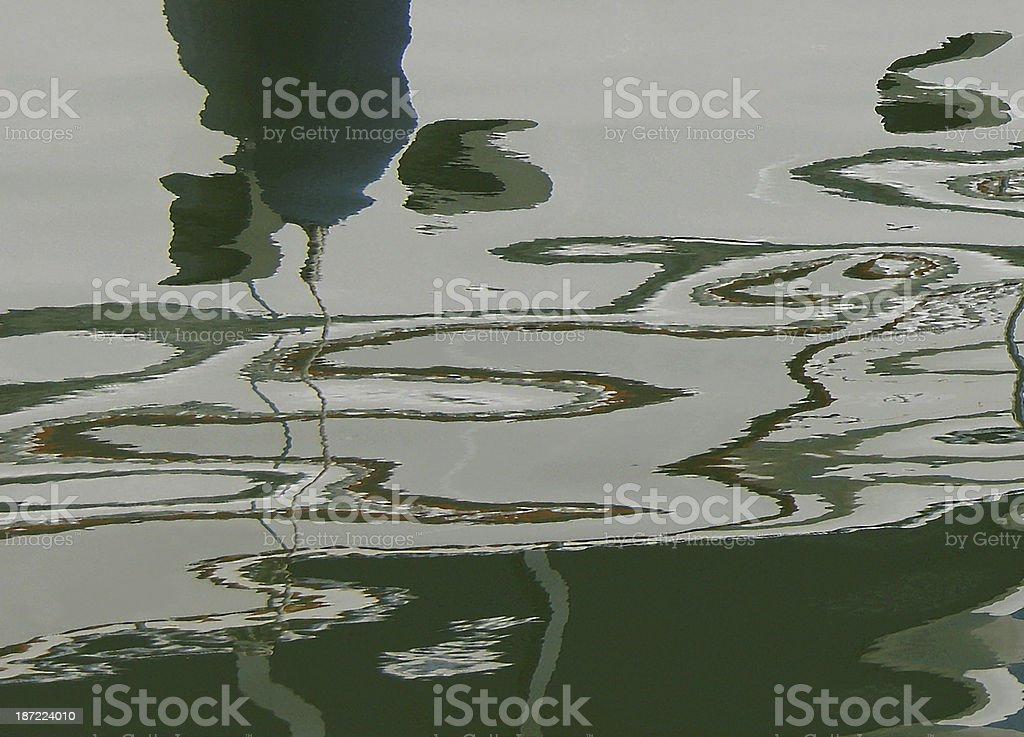 Abstract water reflection surface background royalty-free stock photo