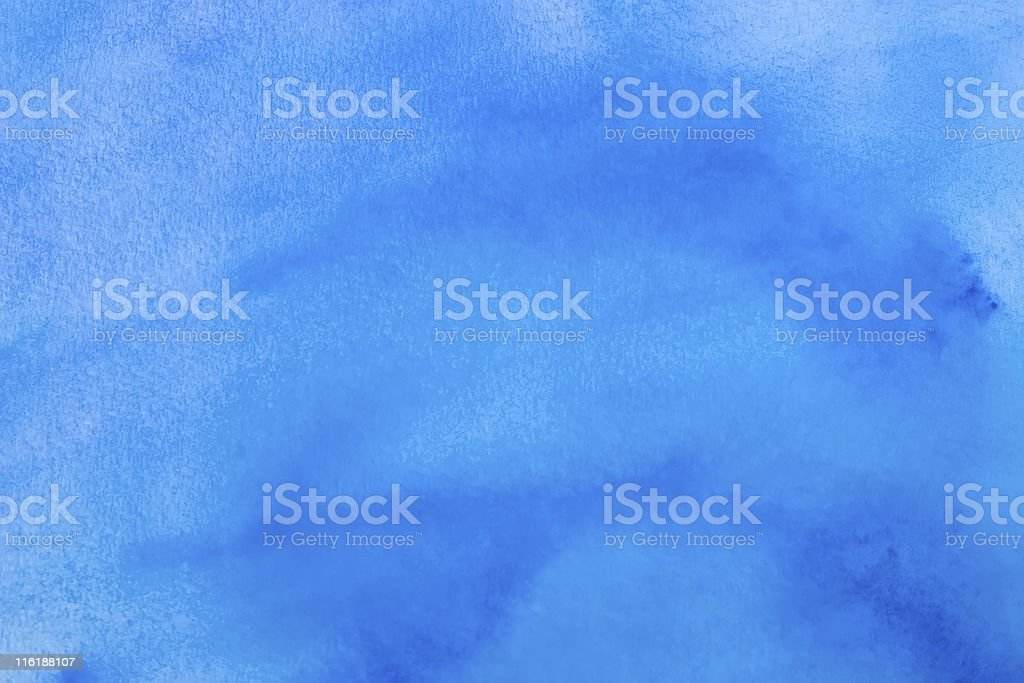 Abstract watercolor background - blue royalty-free stock photo