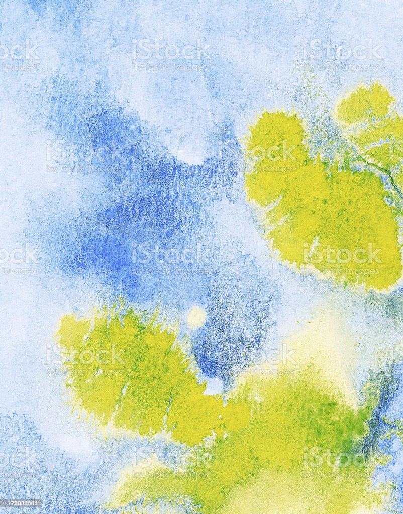Abstract watercolor background, leaked. royalty-free stock photo