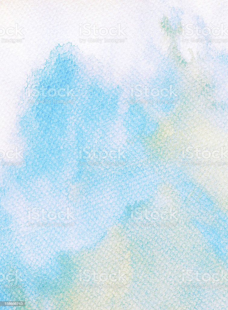 Abstract watercolor background with leaked paint royalty-free stock photo