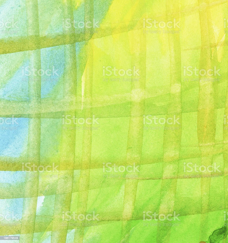 Abstract watercolor background with leaked, striped paint royalty-free stock photo