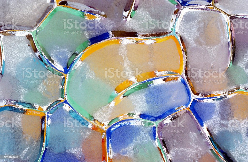 abstract watercolor bubbles stock photo