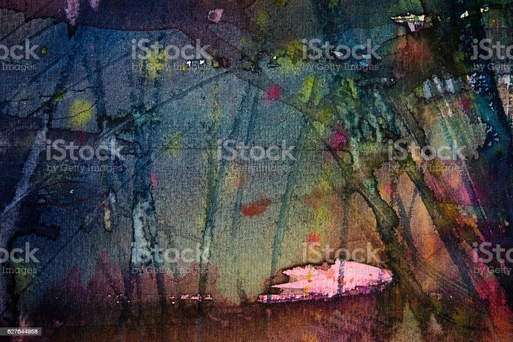 abstract watercolor dark painting background vector art illustration