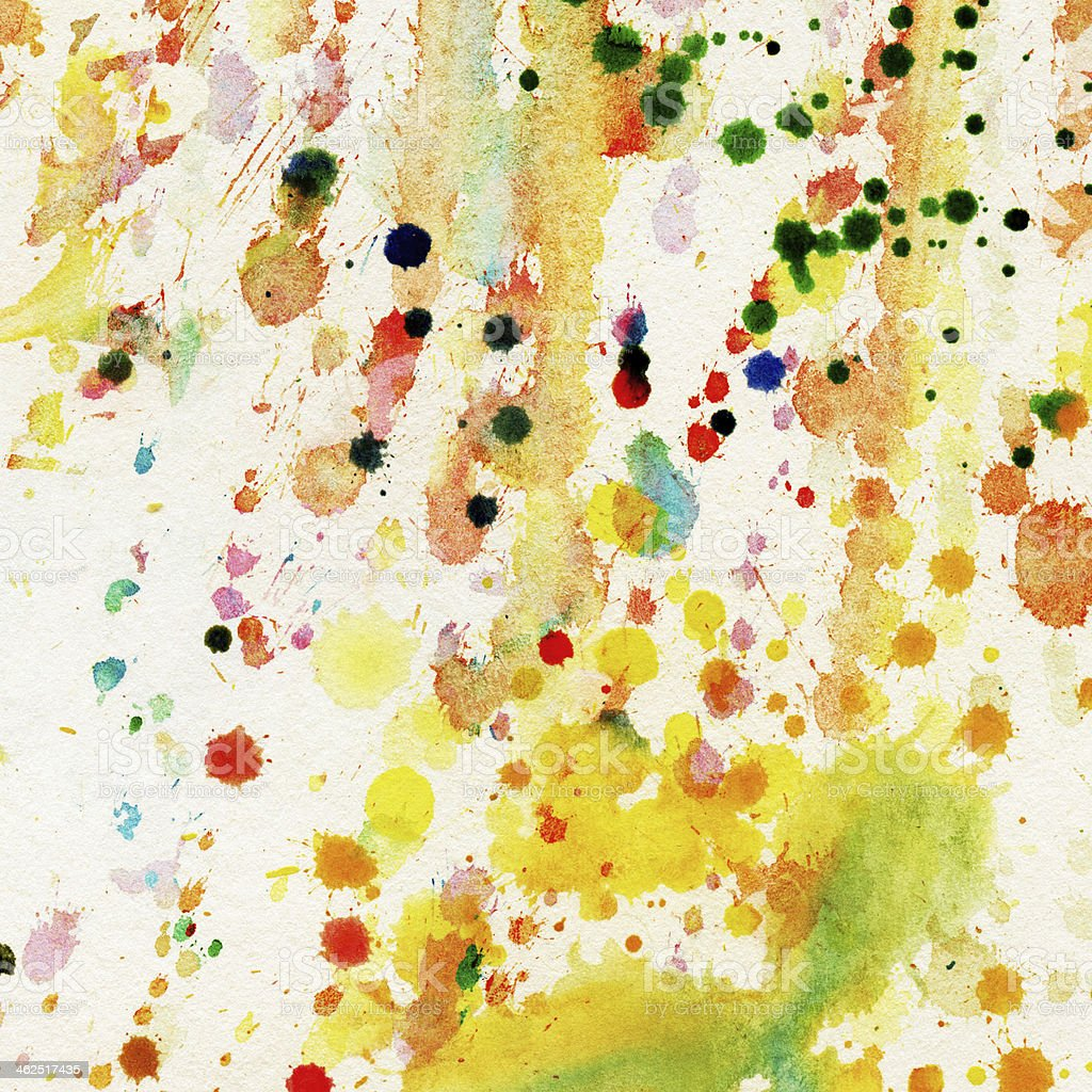 Abstract watercolor, ink splashes stock photo