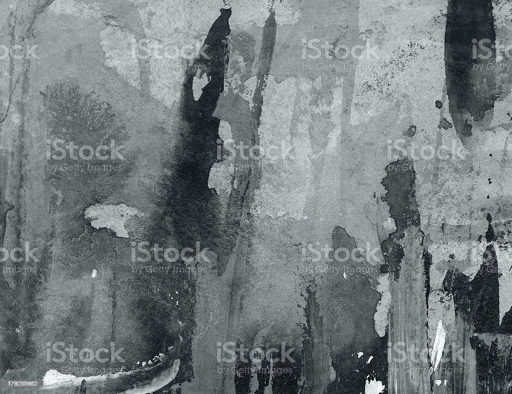 Abstract Watercolor nature painting royalty-free stock photo