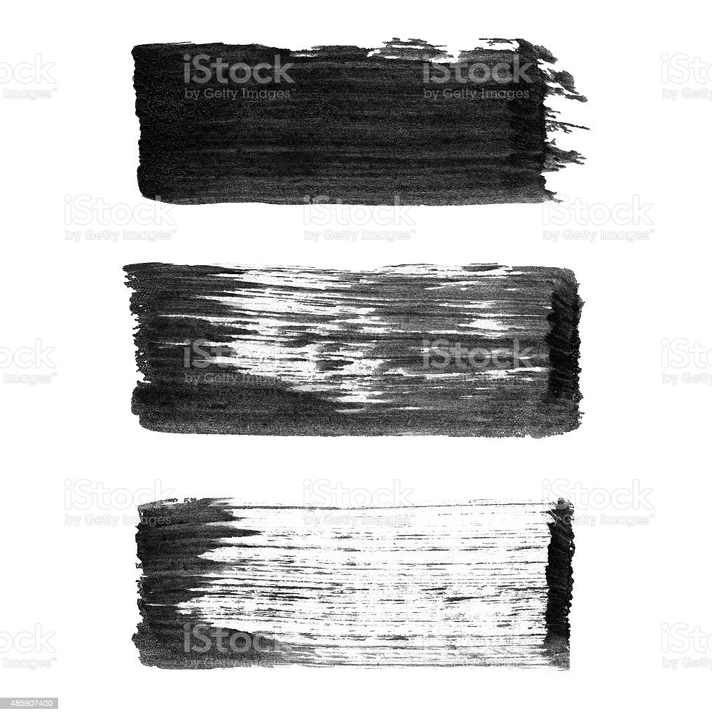 Abstract watercolor paintbrush lines for your project stock photo
