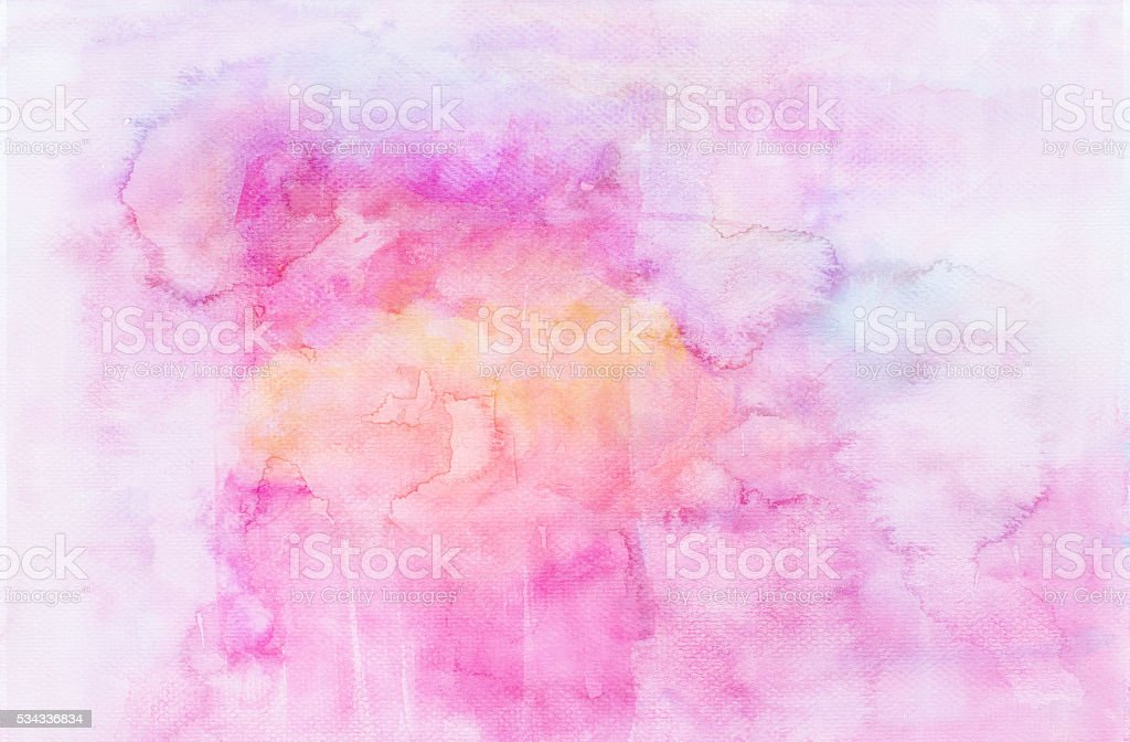 Abstract watercolor painting on paper stock photo