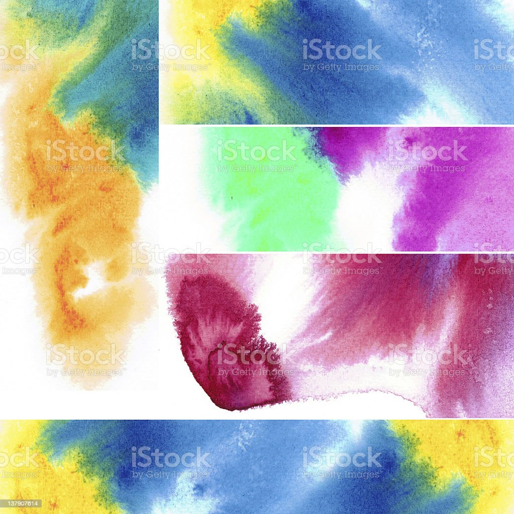 Abstract watercolors royalty-free stock photo
