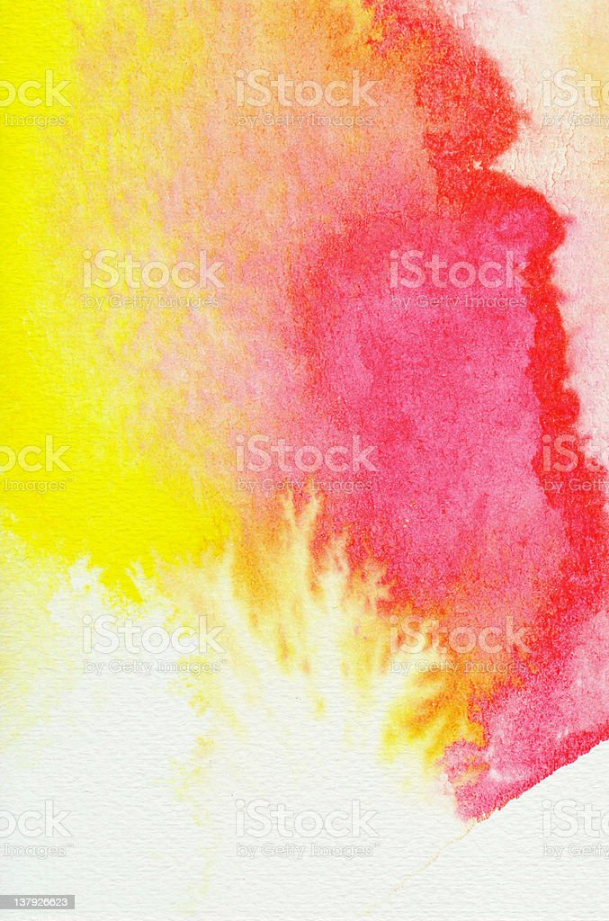 Abstract watercolors stock photo