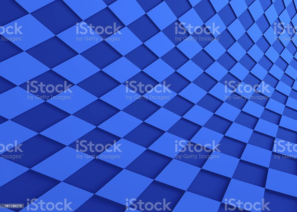 Abstract wave shape blue background royalty-free stock photo
