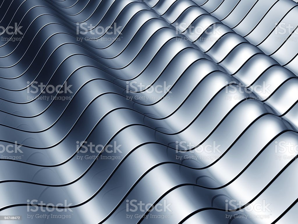 Abstract wave steel background royalty-free stock photo