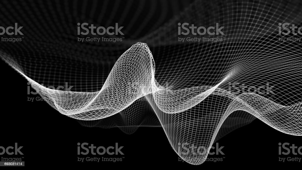 Abstract wave structure scientific background stock photo