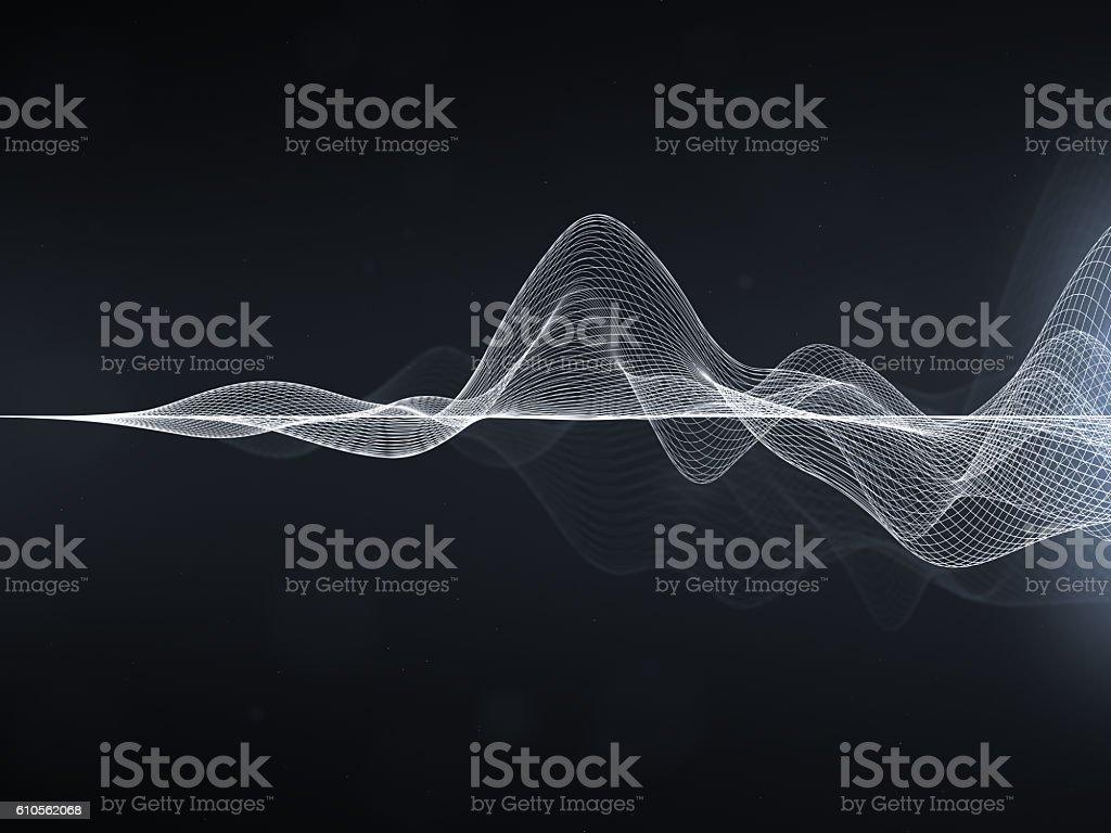 Abstract Wavy Lines stock photo