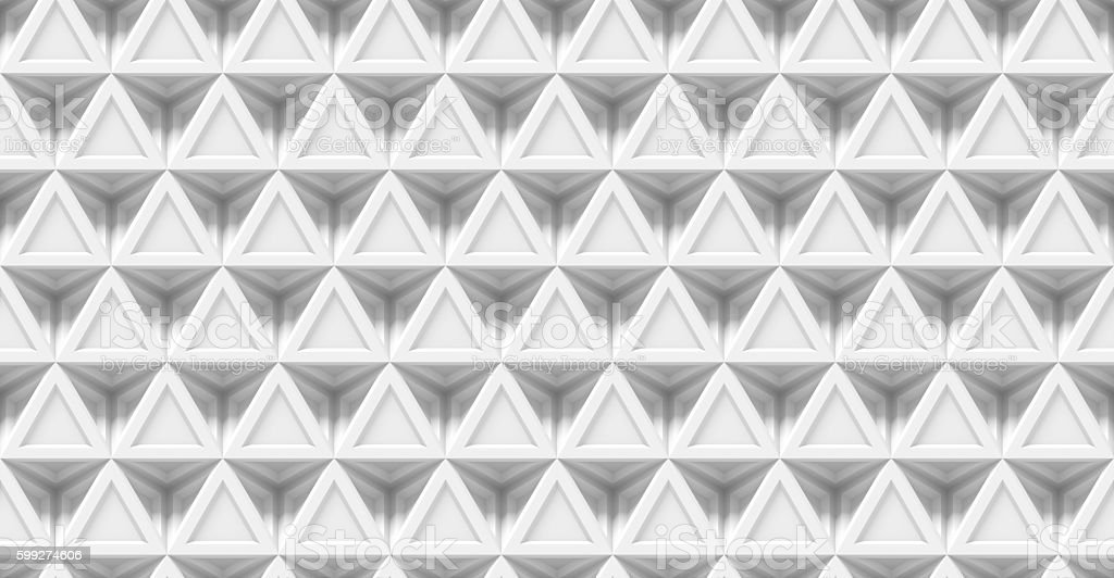 abstract white 3d background made of connected triangles (seamless) stock photo