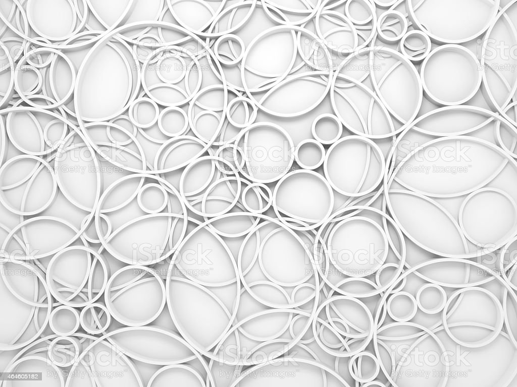 Abstract white 3d background with relief circles pattern stock photo
