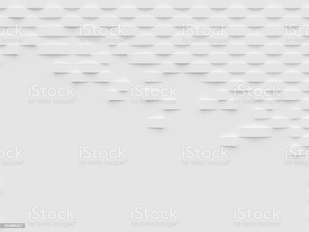 Abstract white 3D wallpaper and background stock photo