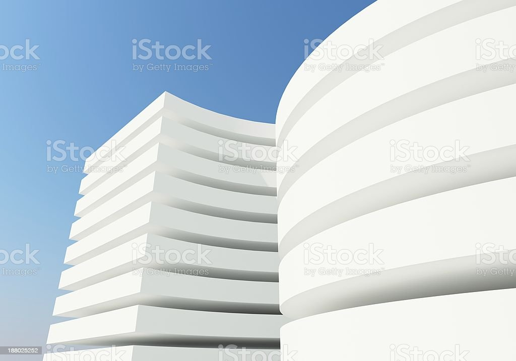 abstract white architecture building, 3d rendering royalty-free stock photo