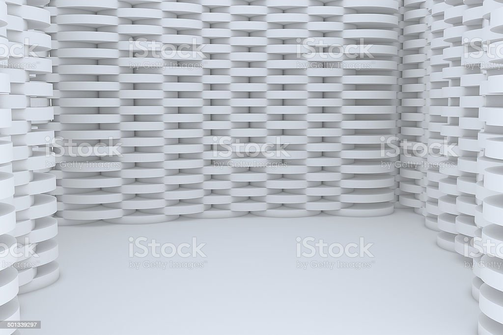 Abstract White Building Construction royalty-free stock photo
