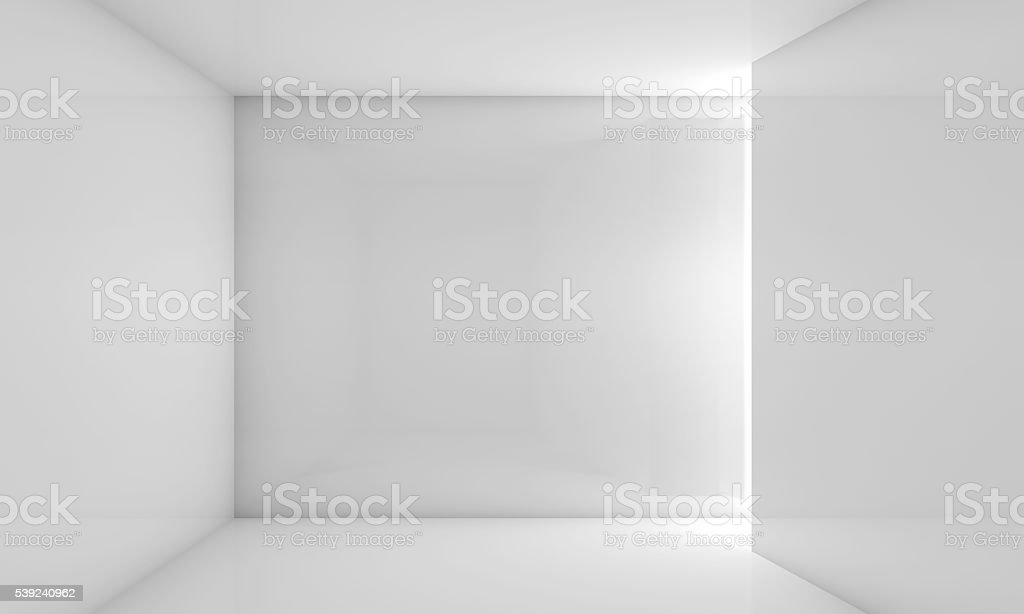 Abstract white contemporary interior 3 d stock photo