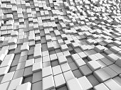 Abstract White Cubes Blocks Background