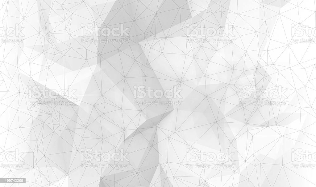 Abstract white digital 3d polygonal surface background texture stock photo