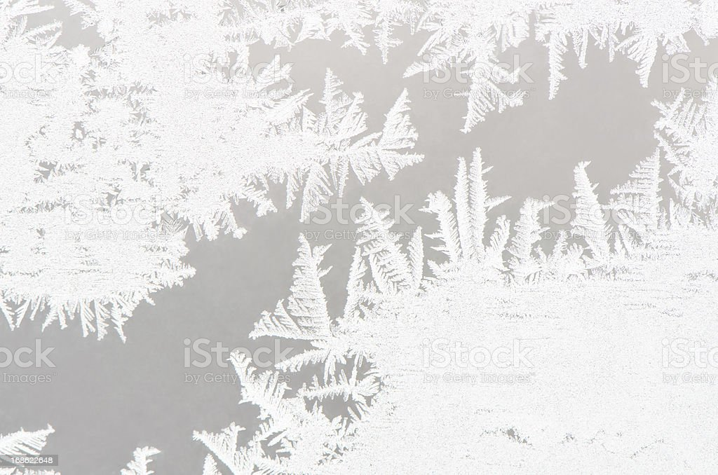 Abstract white ice flower background stock photo
