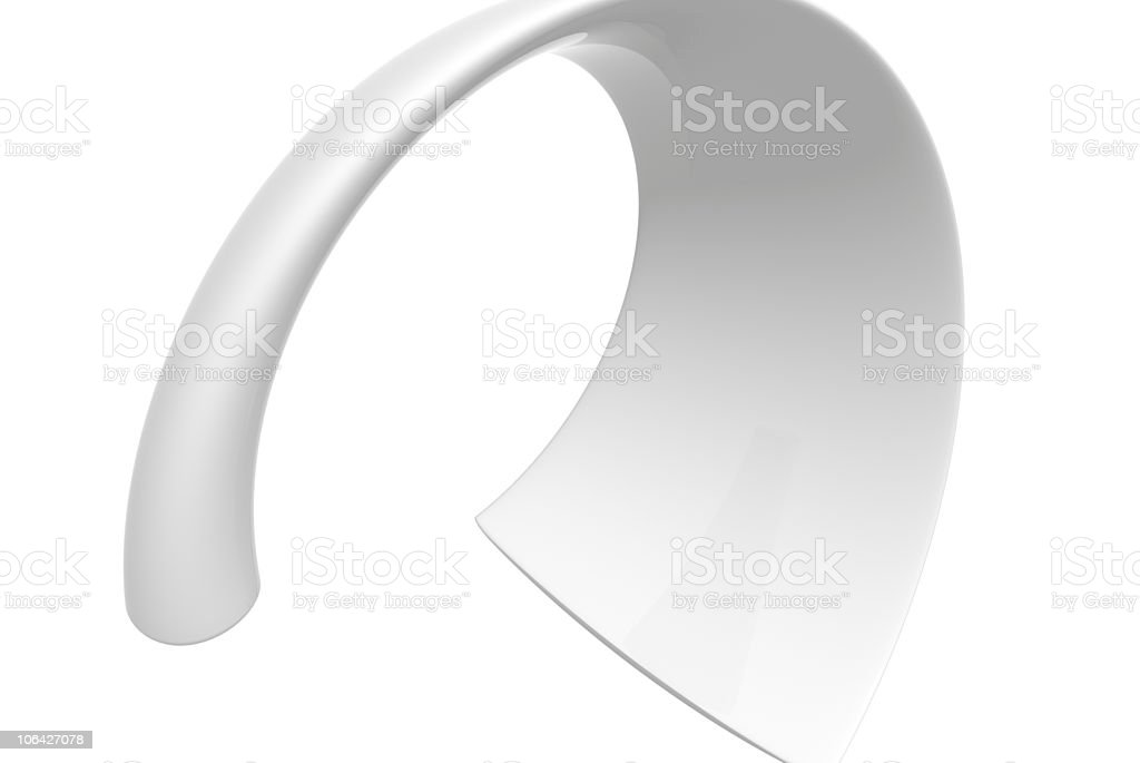 abstract white shape royalty-free stock photo